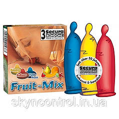 Презервативы Secura Fruit-Mix (3 шт.)