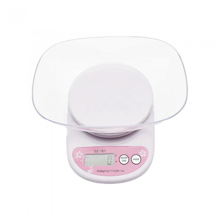 Весы кухонные с чашей 5кг точность 1гр QZ-161 цифровые