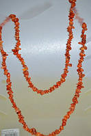 Бусы крошка коралл оранжевый