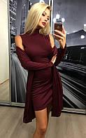 Оригинальный комплект платье и кардиган 2в1