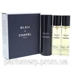 Chanel Blue De Chanel Pour Homme 1+2 Refill (3*20мл), Мужская Туалетная вода  - Оригинал!
