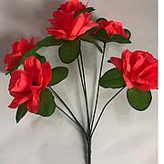 Штучний букет троянда підставка
