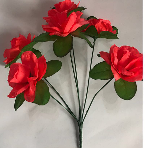 Искусственный букет роза подставка, фото 2