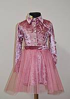 Нарядное детское платье двойка с фатиновой юбкой