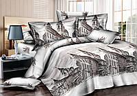 Комплект постельного белья полуторный, ранфорс 100% хлопок. Постільна білизна. (арт.7591)