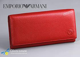 Кошелек женский кожаный красный GIORGIO ARMANI