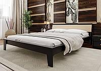 Кровать деревянная Венеция М с мягким изголовьем двуспальная