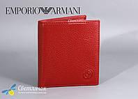Кошелек женский кожаный маленький красный GIORGIO ARMANI