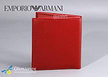 Кошелек женский кожаный маленький красный GIORGIO ARMANI , фото 2