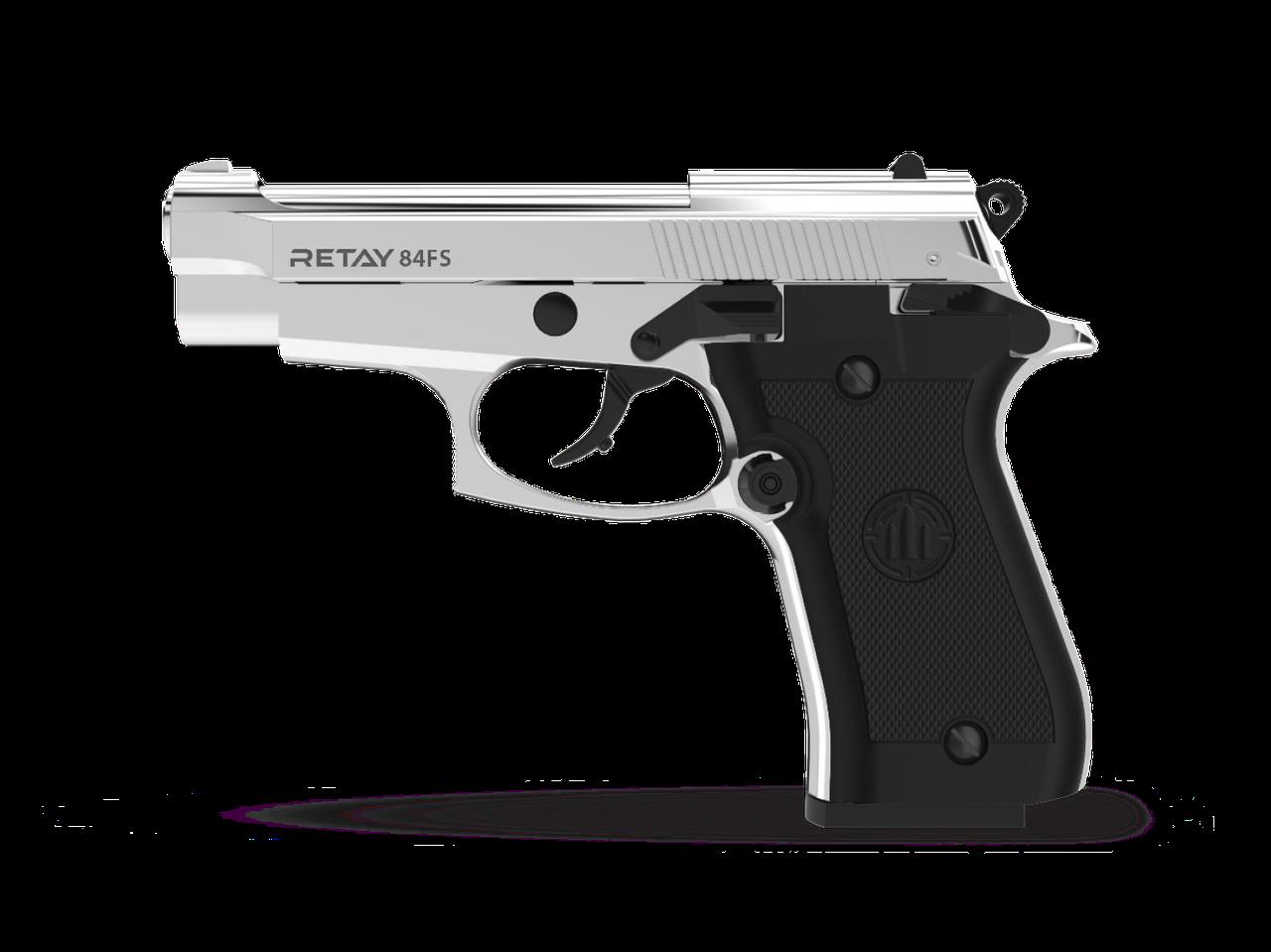 Пистолет сигнальный Retay 84FS Nickel (копия Beretta M84)
