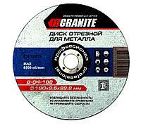 Диск абразивный отрезной для металла 115*1,6*22,2 мм Луга MasterTool 08-4112-Б