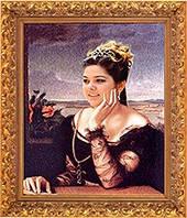 Портрет на холсте под живопись