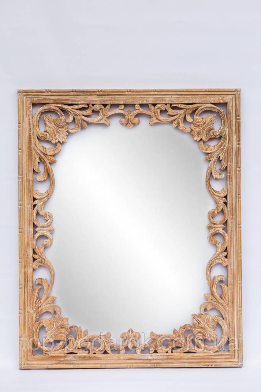 Настенное зеркало в деревянной раме размер 100*80 см