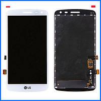 Дисплей (экран) для LG X220 K5 Dual Sim + тачскрин, белый, оригинал