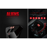 АЗУ Remax RCC-208 ALIENS (2 USB/3.4A) с LCD дисплеем
