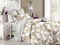 Комплект постельного белья полуторный, ранфорс 100% хлопок. Постільна білизна. (арт.8737)
