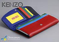Кошелек женский кожаный черно-красный KENZO KE5531 AE