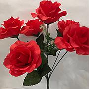 Искусственная роза.Ритуальный букет роза.