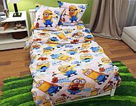 Детский комплект постельного белья полуторный, ранфорс 100% хлопок. Постільна білизна дитяча. (арт.8754)