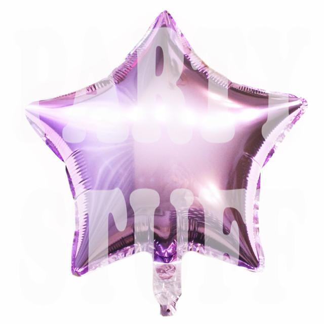 звезда фольгированная светло-фиолетовая