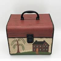 Подарочная коробка чемодан с домиком 2 шт