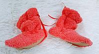 Детские сапожки для дома махровые 2 розовые