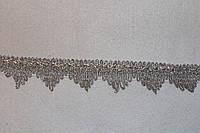 Тесьма декоративная люрекс серебро 6139, фото 1