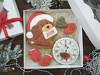 Подарочный набор к Новому Году имбирно-медовых пряников №7  20х20см (пряник новогодний на подарок)