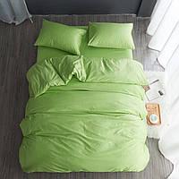 Комплект постельного белья полуторный, нежно зеленый (2 наволочки)