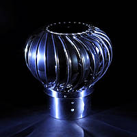 Турбодефлектор нержавеющий 150 мм люкс с переходником