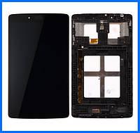 Дисплей (экран) для LG V400 G Pad 7.0 + тачскрин, черный, с передней панелью, оригинал