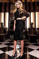 Утонченное платье Эрни цвет черный из замши