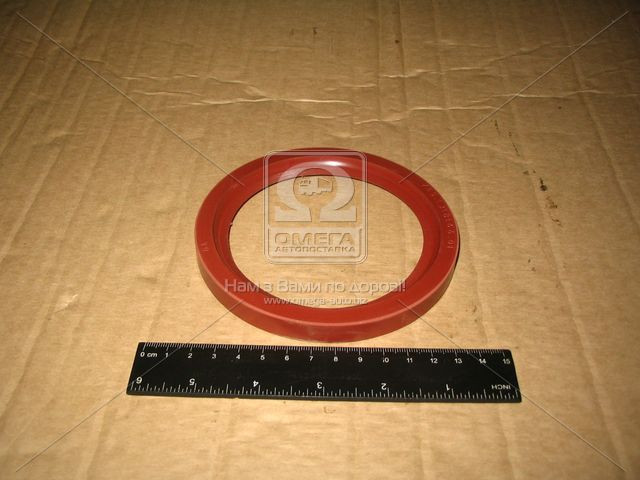 Сальник вала коленчатого КАМАЗ передний (красный) (166) (производство Украина) (арт. 740.1318166-01)
