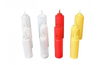 Бутылка-дозатор для соусов 360 мл. белая, пластиковая FoREST