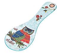 """Керамічна підставка під ложку """"Owl"""" (10х28 см.), фото 1"""