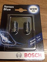 Лампа розжарювання W5W 501 Xenon Blue Bosch 1 987 301 033