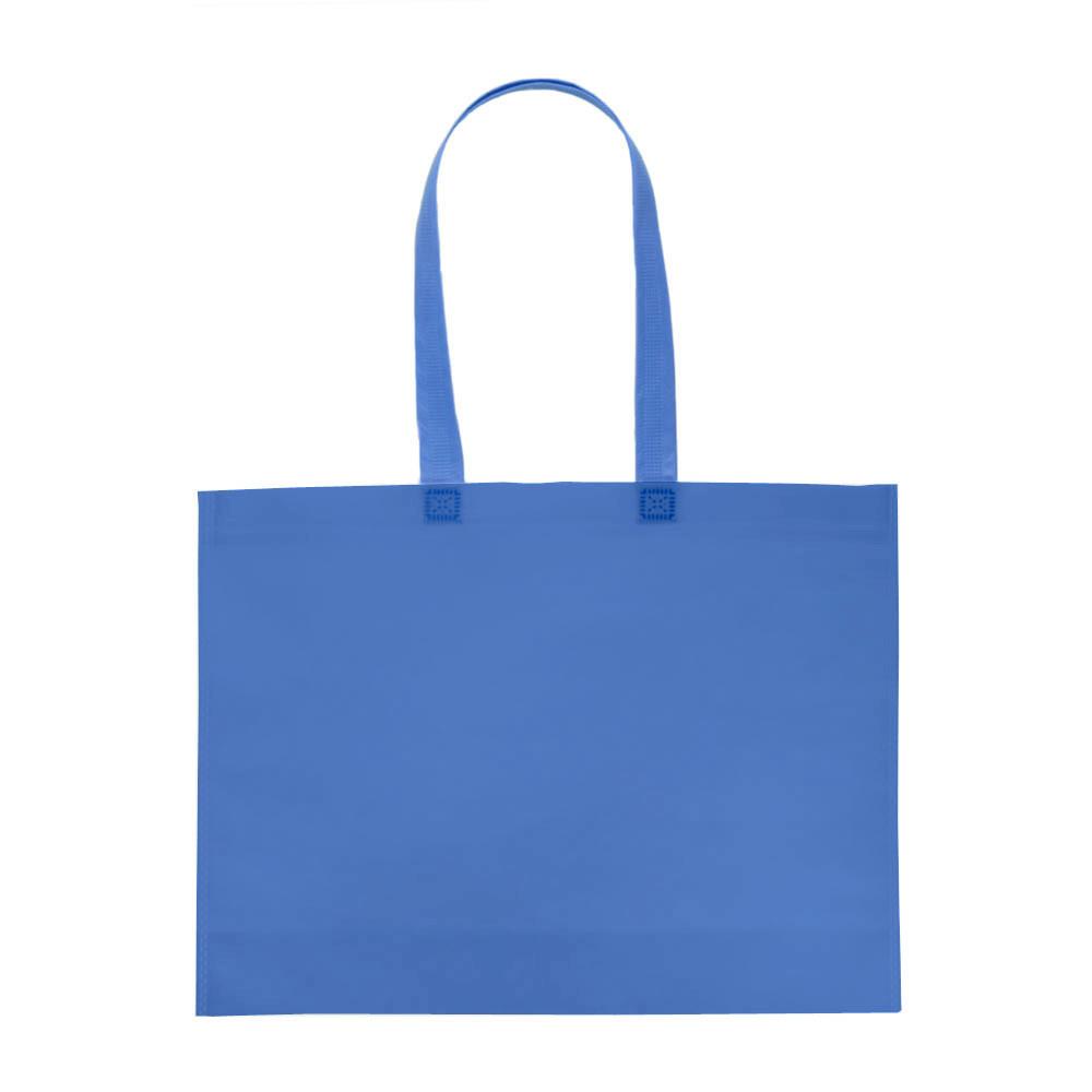 Экосумка Market, спанбонд 80 г/м2, голубая, от 100 шт