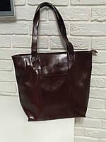 """Женская кожаная сумка """"Alexandra"""" коричневая"""