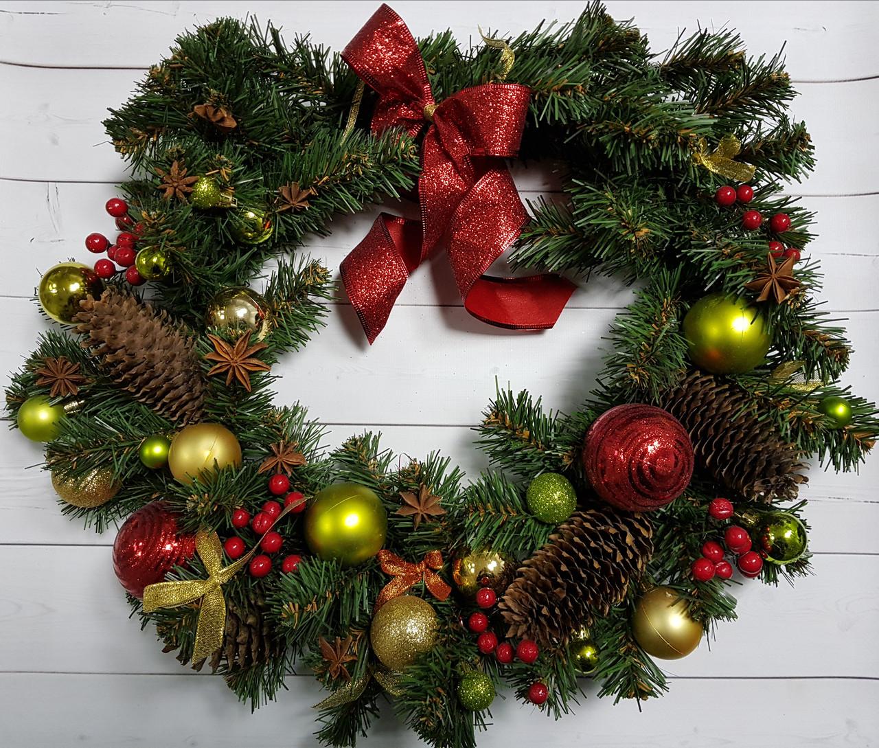 Рождественский венок Forest Collection с шишками и ягодами, диаметр 35 см