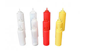 Бутылка-дозатор для соусов 360 мл. желтая, пластиковая FoREST