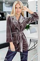 Трендовый велюровый пиджак Gepur 22526