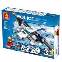 """Конструктор WANGE 51014 """"Полицейский вертолет"""" 174 дет."""