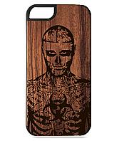 Деревянный чехол на Iphone 7/7s  с лазерной гравировкой Рик Дженест