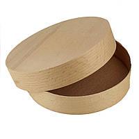 Коробка подарочная деревянная из букового шпона 14.5 х 3 см