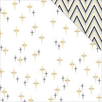 Кардсток - Teresa Collins - Glam Factor - Seeing Stars (gold Foil)