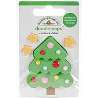 Наклейки 3D - Doodlebug - Milk & Cookies Sweet Spruce