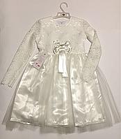 Нарядное платье для девочек 98-128см