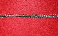 Тесьма декоративная люрекс серебро 6142