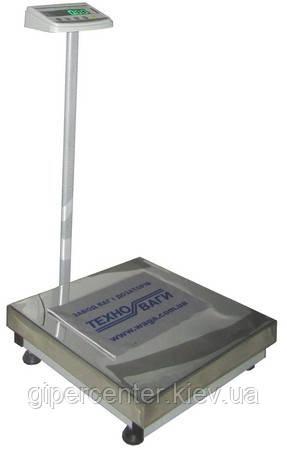 Весы товарные Техноваги ТВ1-150-10-(400х400)-S-12ер до 150 кг, со стойкой, фото 2