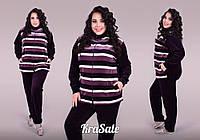 Женский велюровый спортивный костюм (размеры 48-60)